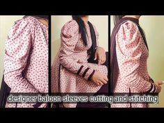 designer baloon sleeves cutting and stitching   puff sleeves tutorial   baloon sleeves cutting - YouTube Bridal Shrug, Stitch 2, Sleeve Designs, Top Pattern, Cowl Neck, Puff Sleeves, Receptions, Sweaters, Wedding Decorations
