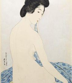 Woman after a Bath, by Goyō Hashiguchi「橋口 五葉 」