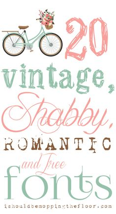 Free, Vintage, Shabby, and Romantic Fonts | Instant Download Links | Download Instructions Included