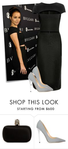 """""""474. Camilla Luddington"""" by claudisca ❤ liked on Polyvore featuring Post-It, Bulgari, Alexander McQueen, Jimmy Choo, women's clothing, women, female, woman, misses and juniors"""