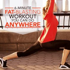 6 Minute Fat Blasting Workout You Can Do Anywhere