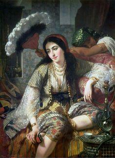 Jean Baptiste Ange Tissier (1814-1876)/ An algerian and her slave