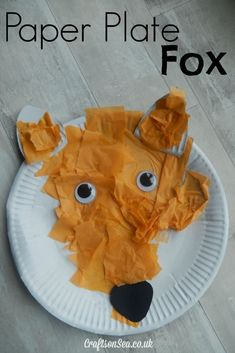 This sweet paper plate fox is a great forest animal craft for kids. It can be used to help promote fine motor skills or just as a fun craft idea!