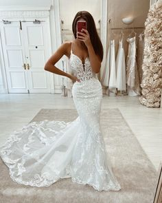 Cheap Wedding Dresses Online, Wedding Dresses With Straps, Fit And Flare Wedding Dress, Bridal Dresses, 2 In 1 Wedding Dress, Lace Mermaid Wedding Dress, Dresses Dresses, Stunning Wedding Dresses, Dream Wedding Dresses