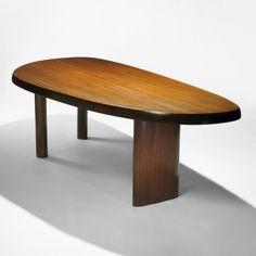 Charlotte Perriand, Ribbon Mahogany Dining Table, 1955.