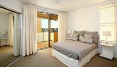 Bedroom 2 with it's own balcony, Unit 60, 7 Grand Parade, Kawana Island