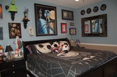 Disney Nightmare Before Christmas Bedroom; Decorating; Jack Skeleton www.mydisneylove.com