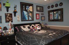 Disney Nightmare Before Christmas Bedroom; Decorating; Jack Skeleton www.mydisneylove.com