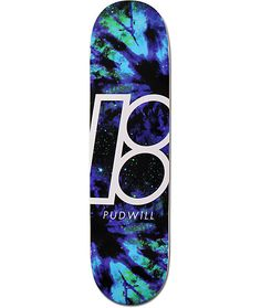 Ethan A slight concave shape will have you popping tricks with ease with a Torey Pudwill nebula galaxy print Plan B logo graphic for style.