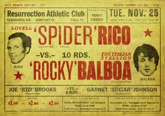 "Spider Rico vs. Rocky Balboa Based on ""Rocky""  © Philippe Desfretier 2013"