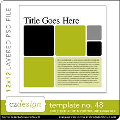 Cathy Zielske's Layered Template No. 048 - Digital Scrapbooking Templates