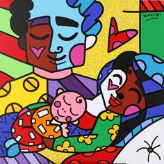 Original work created by Romero Britto for Brazilian President Dilma Rousseff's 9.4 billion new project the ''Stork Network''
