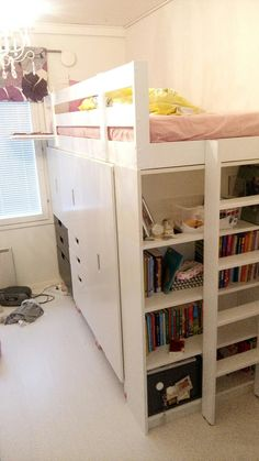 2 ways to hack a kid's storage bed using MYDAL, STUVA, METOD, BILLY and other materials.