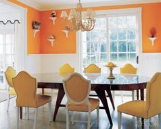 Orange Dining Room Decorating Ideas KBHome