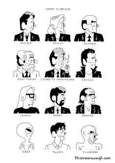 The X-Files Print. £4.00, via Etsy.