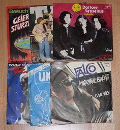"6x 7"" Vinyl Collection FALCO UKW MAAHN TAX GEIER STURZFLUG LUNA SET"