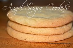 ANGEL SUGAR COOKIES  http://hugsandcookiesxoxo.com/2014/01/angel-sugar-cookies.html