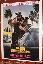 "MIAMI SUPERCOPS {Terence Hill Bud Spencer} 27x41"" Original Movie Poster 80s"