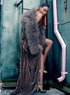 Chanel Iman by Max Abadian for Flare October 2010.