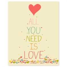 All You Need is Love 8x10 inch print - Finny & Zook - Events