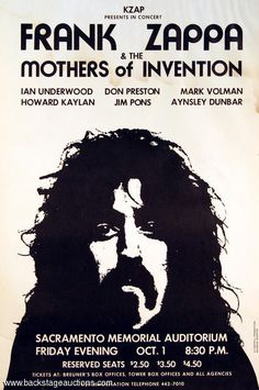 1.10.1971; frank zappa and the mothers of invention; usa, sacramento, memorial auditorium; (db) (t)