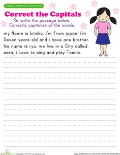 Printables Capitalization Practice Worksheets practice capitalization leveon bell search and grade 2