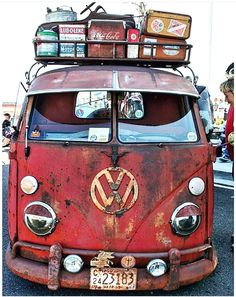 Old school hippie bus
