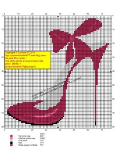 0 point de croix talon aiguille rouge - cross stitch red high heels
