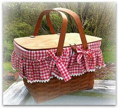beautiful gingham on a sweet basket
