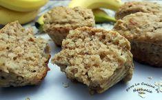 Muffins au beurre d'arachides, gruau et bananes