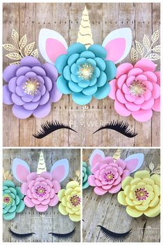 229 Best Unicorn Party Images Unicorn Ears Paper Flowers Diy