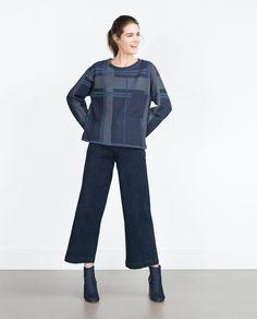 CHECK SWEATSHIRT-Sweatshirts-TRF | ZARA Malaysia
