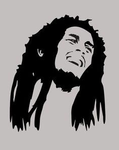 Bob Marley Vinyl Decal Car Sticker x Bob Marley Dibujo, Arte Bob Marley, Bob Marley Painting, Art Sketches, Art Drawings, Black Art, Black And White, Silhouette Art, Silhouette Portrait