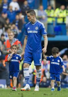 Fernando Torres and his adorable children