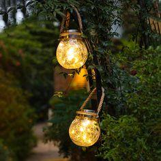 US$ 50.49 - Solar Crack Lamp - m.sheinv.com Outdoor Solar Lamps, Solar Lanterns, Patio Lighting, Modern Lighting, Solar Chandelier, Landscape Lighting, Lighting Ideas, Led Solar, Solar Powered Garden Lights