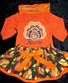My First Thanksgiving day baby girl outfit onesie by GinaBellas1, $29.50