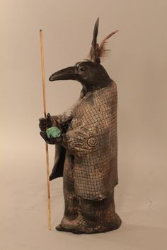 Misha Raven Sculpture Native American Animal Spirit via Etsy