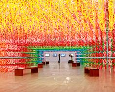 emmanuelle moureaux guides visitors through vibrant forest of numbers