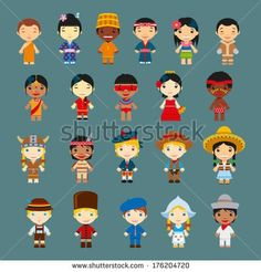 Find Happy World Kids Set Multicultural Traditional stock images in HD and millions of other royalty-free stock photos, illustrations and vectors in the Shutterstock collection. Thousands of new, high-quality pictures added every day. Children's Day Craft, International Children's Day, Primary Activities, World Images, Child Day, Children Images, Art For Kids, Royalty Free Stock Photos, Pictures