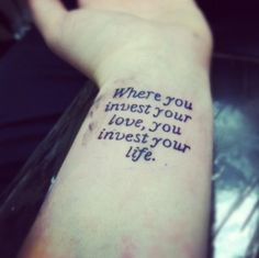 If I EVER got a tat.. it'd be these simple words... love me some mumford