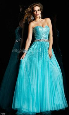 I love any dress that's mint colored and sparkly
