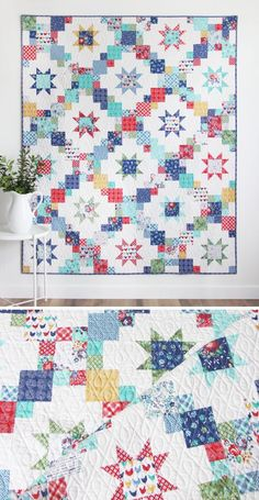 Brightly, Layer Cake friendly pattern – Famous Last Words Quilting Beads Patterns Layer Cake Quilt Patterns, Layer Cake Quilts, Star Quilt Patterns, Modern Quilt Patterns, Star Quilts, Scrappy Quilts, Bright Quilts, Christmas Quilt Patterns, Homemade Quilts