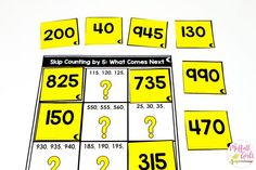 Skip Counting Mystery Puzzle math center for Grade Skip Counting Activities, Math Activities, Measurement Activities, Teaching Numbers, Math Numbers, Teaching Math, Fun Math, Math Games, Maths