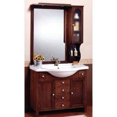 mobile bagno oristano 105 cm arte povera e specchio con pensile