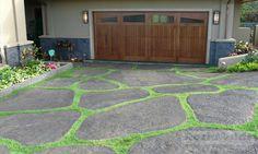 Moss rock driveway pavers