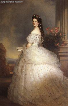 Empress Elisabeth of Austria in dancing dress,1865, Franz Xaver Winterhalter.(Kunsthistorisches Museum - Wien Austria)