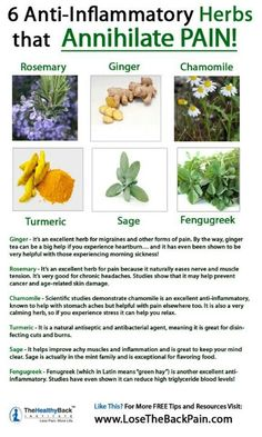Pain relief & herbs