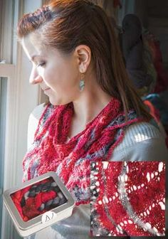 Every Which Way Shawl Kit by Artyarns - Firestorm colorway