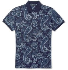 Italian luxury brand <a href='http://www.mrporter.com/mens/Designers/Etro'>Etro</a> has a penchant for intricate patterns, and this polo shirt is printed with a slightly more subdued take on its signature vivid paisley. It's cut from soft cotton-piqué in a smart slim fit. Complement the tonal-blue palette with neutral chinos.