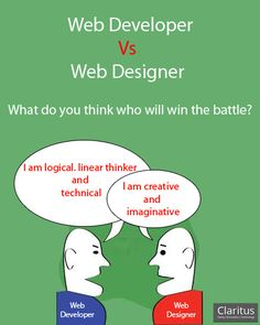 What do you think who will win the battle? Web Developer or Web Designer. What's Your Say?
